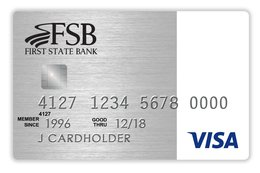 First State Bank Simply Rewards Visa Card
